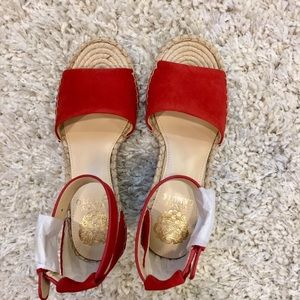 Vince Camuto rich Red Platform Wedge Sandals